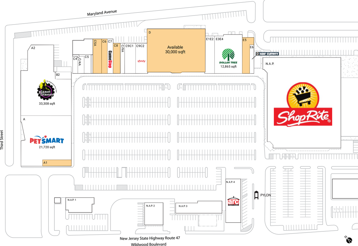 Rio grande nj available retail space restaurant space for Asian cuisine ocean view nj