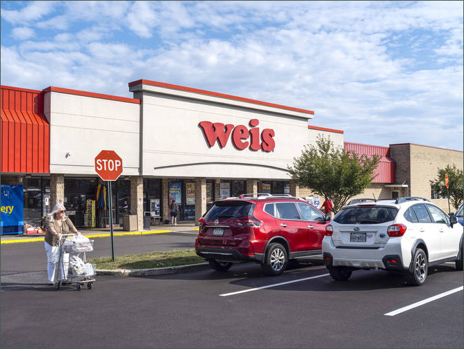 Lansdale PA - North Penn Market Place Shopping Center Anchored by Weis