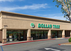 Commercial Property Rental - Santa Paula Center California with Dollar Tree